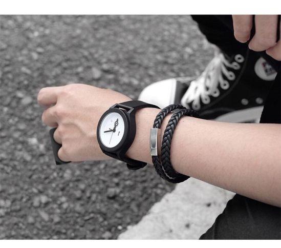 Brooks Double Strap Black Bracelet 20 CM