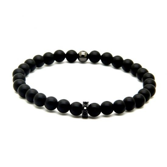 Agate Men Black Bracelet