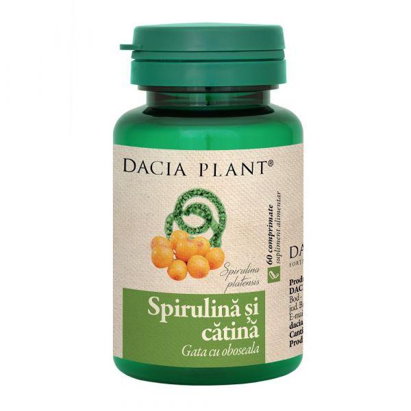 Spirulina cu extract total de Catina - Hofigal, 40 capsule (Pentru sportivi) - mymamaluvs.com