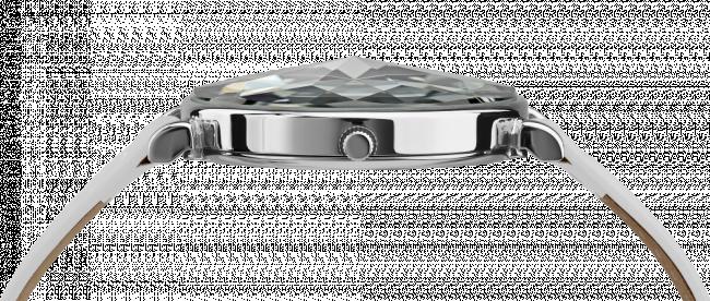 Ceas dama Facet cu carcasa din otel inoxidabil 36mm, curea din piele originala, mecanism Ronda 762, rezistent la apa  3 ATM