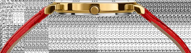 Ceas dama Roma cu carcasa din otel inoxidabil 36mm, curea din piele, mecanism Ronda 762, rezistent la apa  3 ATM