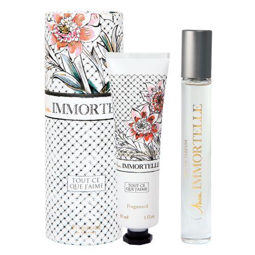Set Mon Immortelle Conţine: Apă de Parfum 7,5 ml + Cremă pentru mâini 30 ml