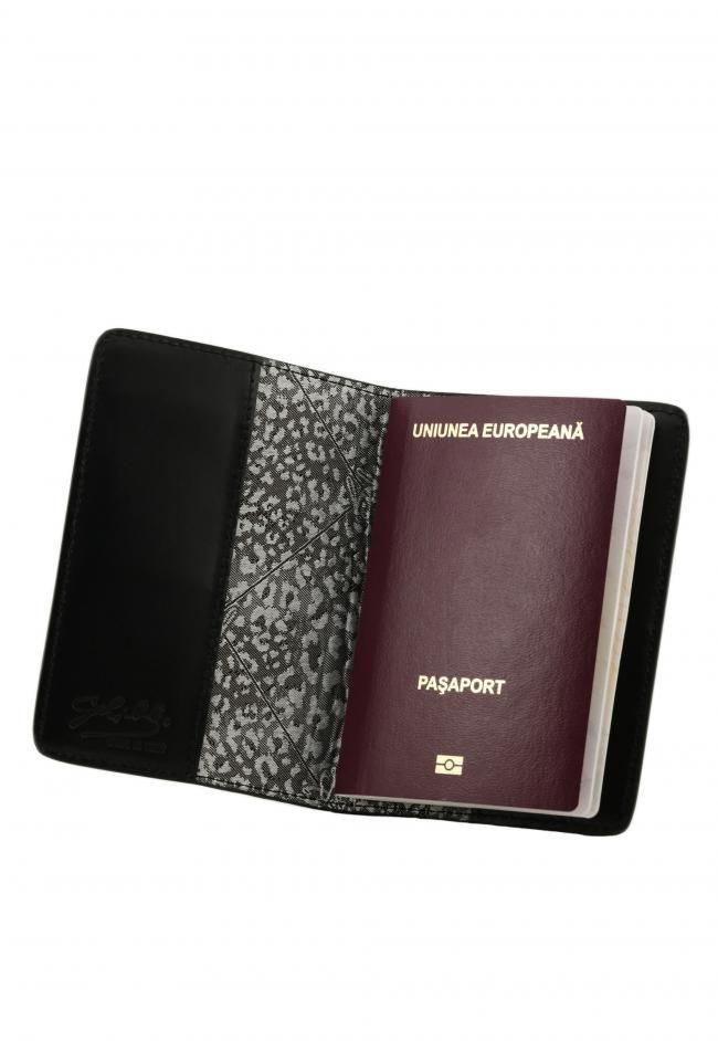 Husa Pasaport Piele Piton Barbati/ Femei Baldo