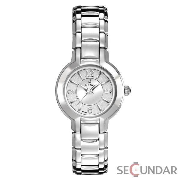 Ceas Bulova 96L147 Fairlawn Dress Stainless Steel Silver White Dial de Dama