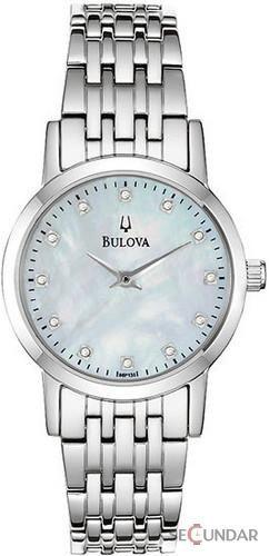 Ceas Bulova 96P135 Diamonds Stainless Steel Band with Mother of Pearl Diamond Set Dial de Dama