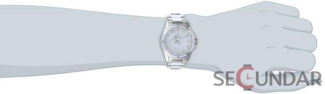 Ceas Bulova 96P144 Diamond  Accented Mother of Pearl Dial Watch de Dama
