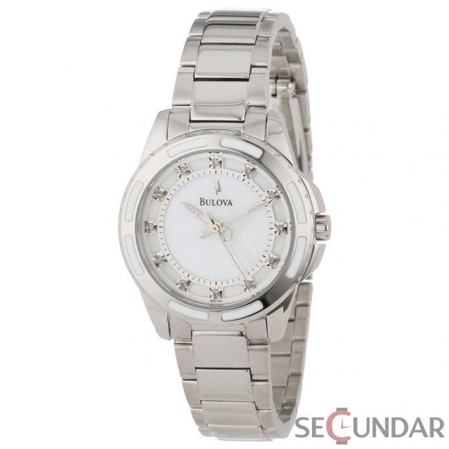 Ceas Bulova 96P144 Diamond  Accented Mother of Pearl Dial Watch de Dama