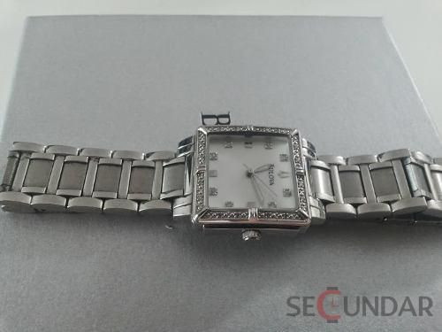 Ceas Bulova 96R107 Diamond Accented Mother of Pearl Dial Watch de Dama