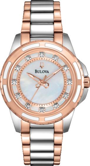Ceas Bulova DIAMOND 98P134 Rose de Dama