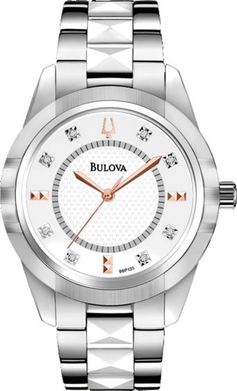 Ceas Bulova Diamonds 98P135 Silver de Dama