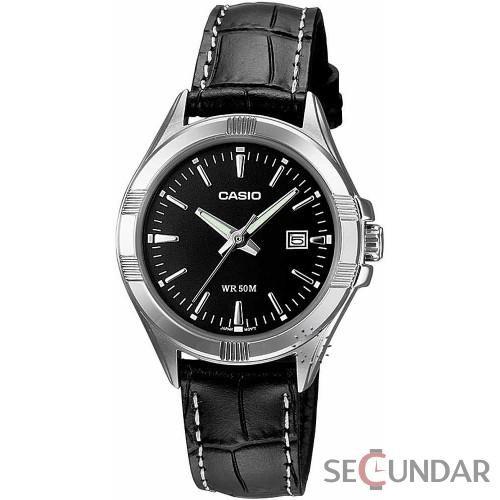 Ceas Casio Classic LTP-1308L-1A Black Leather Quartz de Dama