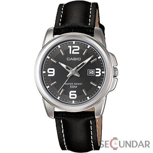 Ceas Casio Classic LTP-1314L-8A Black Leather Quartz de Dama