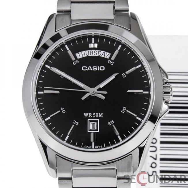 Ceas Casio MTP-1370D-1A1VDF Silver Steel Bracelet & Case Mineral Barbatesc