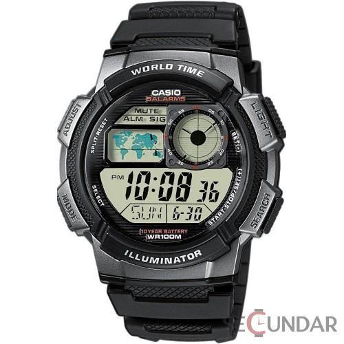 Ceas Casio Sports AE-1000W-1B Black Digital Barbatesc