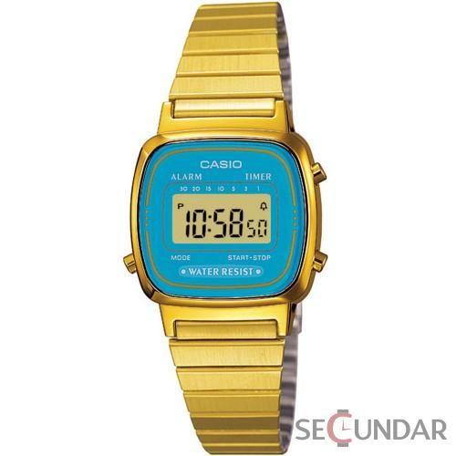 Ceas Casio Vintage LA670WGA-2D Gold Stainless-Steel de Dama