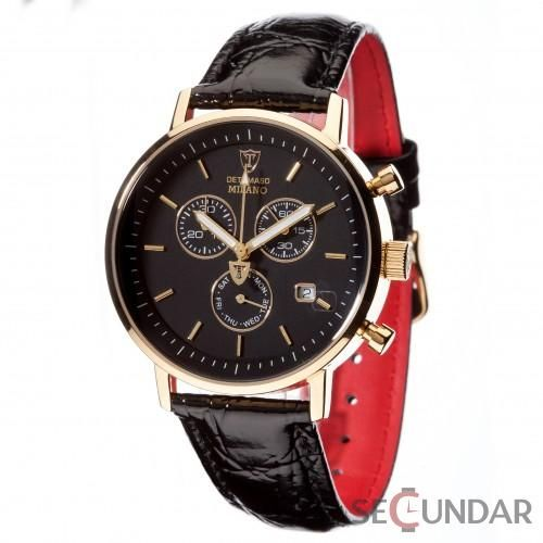 Ceas Detomaso MILANO Chronograph Gold/Black DT1052-K Barbatesc