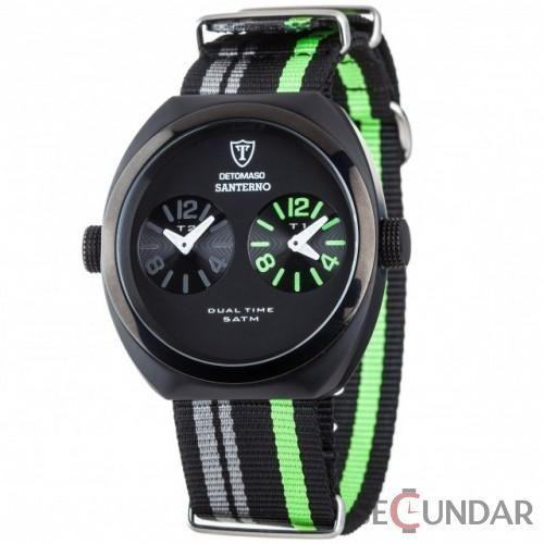 Ceas Detomaso SANTERNO DT2039-B Black/Green Barbatesc