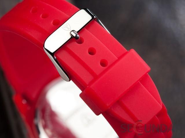 Ceas Detomaso Spacy Timeline Silicon Red/White DT2015-Q Barbatesc