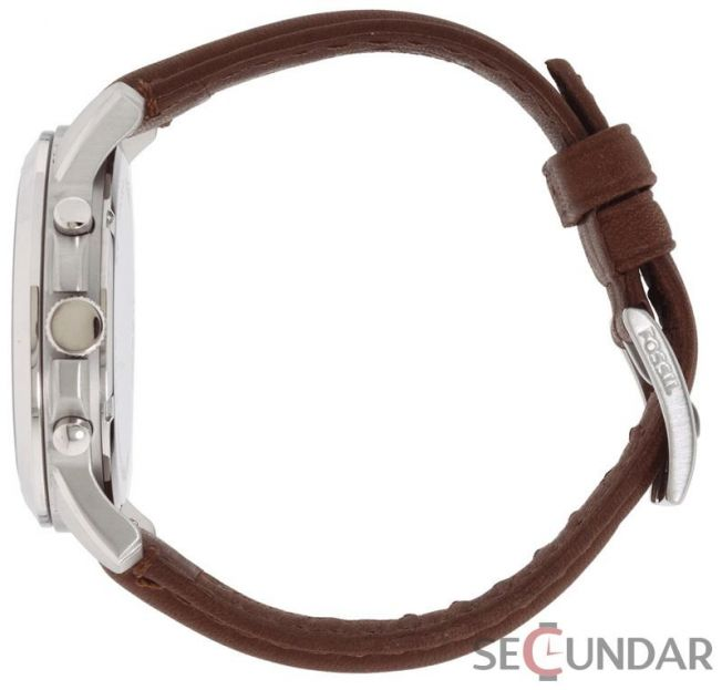 Ceas Fossil FS4735 Grant Chronograph Leather Watch Brown Barbatesc