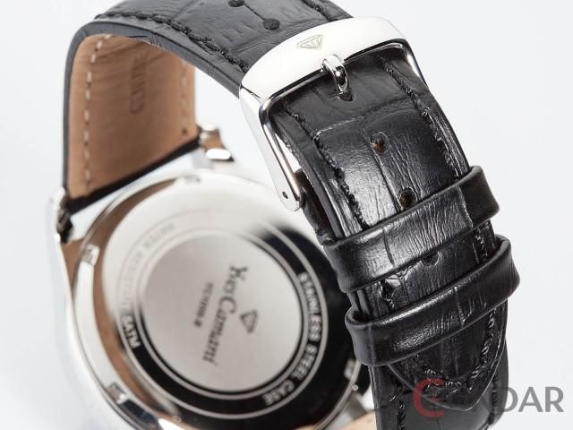 Ceas Yves Camani ROUBION Retrograde Silver/Black YC1056-B Barbatesc