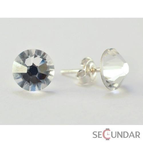Cercei Argint 925 cu SWAROVSKI ELEMENTS Xilion 7 mm Crystal Clear