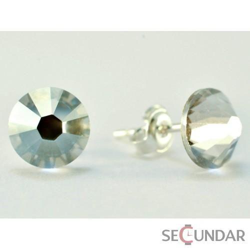 Cercei Argint 925 cu SWAROVSKI ELEMENTS Xilion 7mm Silver Shade