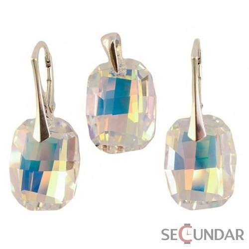 Set Argint 925 cu SWAROVSKI ELEMENTS Graphic 19mm Aurore Boreale