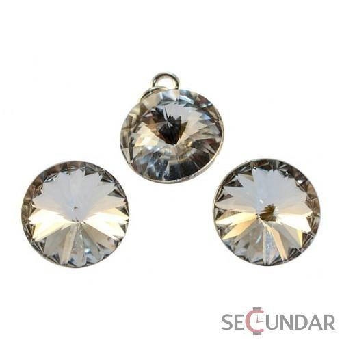 Set Argint 925 cu SWAROVSKI ELEMENTS Rivoli 12 mm Crystal Clear