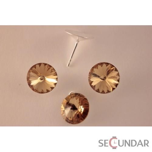 Set Argint 925 cu SWAROVSKI ELEMENTS Rivoli 12 mm Lt. Colorado Topaz