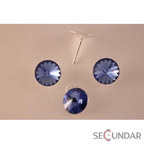 Set Argint 925 cu SWAROVSKI ELEMENTS Rivoli 12 mm Sapphire
