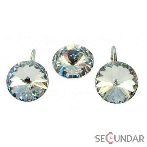 Set Argint 925 cu SWAROVSKI ELEMENTS Rivoli 14mm Crystal Clear