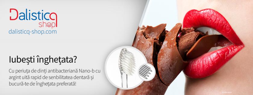 Dinti sensibili la rece. Periute de dinti antibacteriene cu argint sau cu aur si carbune din bambus, Nano-b si NovaCare